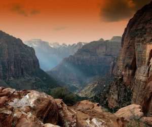Photograph of the week: Sunset at Zion Canyon, Zion National Park, Utah Mountains