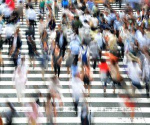 Photograph of the week: Pedestrians, Osaka, Honshu, Japan